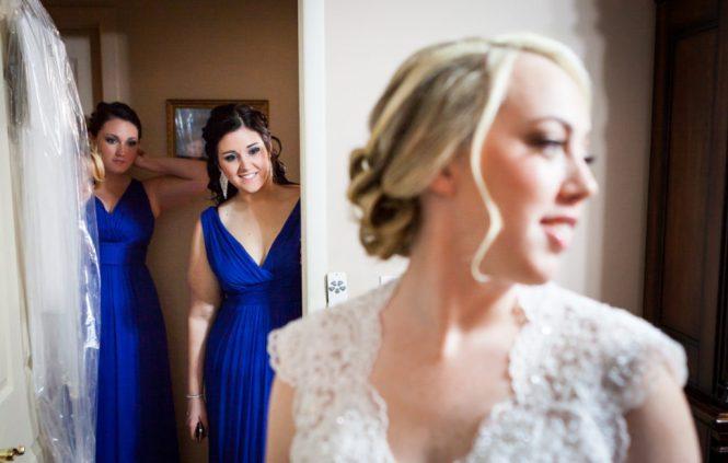 Blue bridesmaid dress for an article on creative borrowed and blue wedding ideas