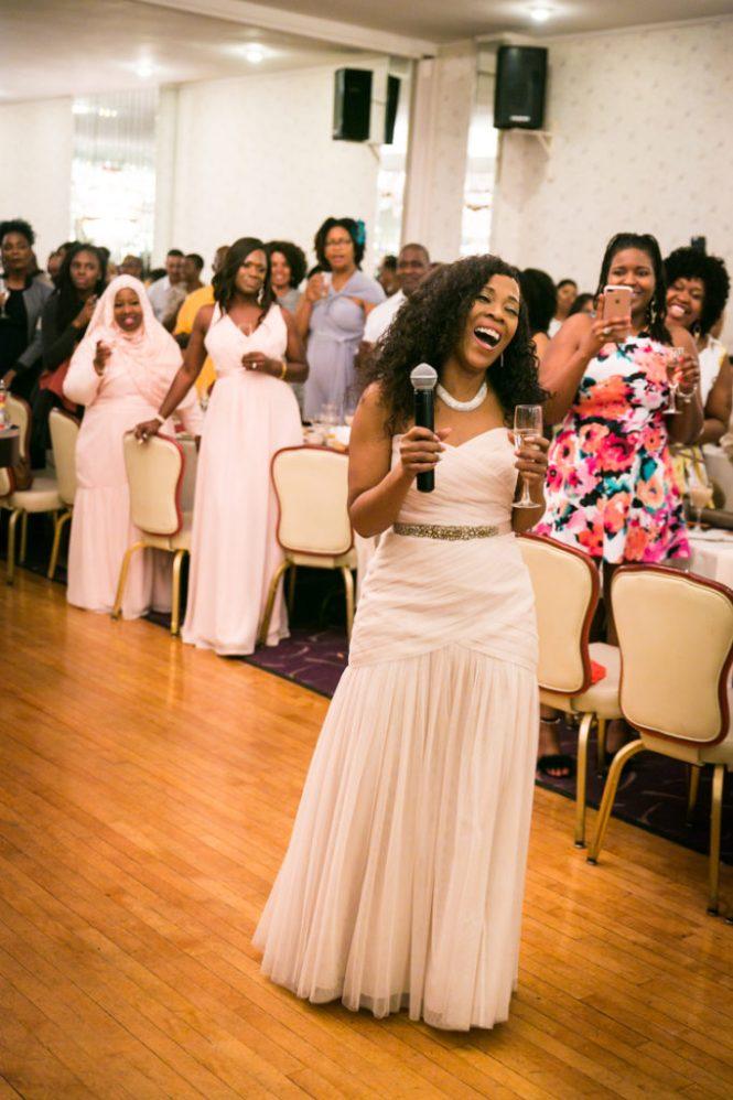 Mother of the bride giving a speech at a Glen Terrace wedding