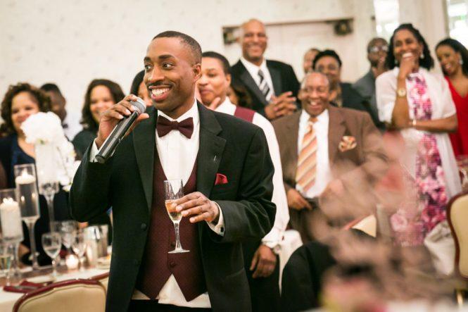 Best man speech at a Glen Terrace wedding