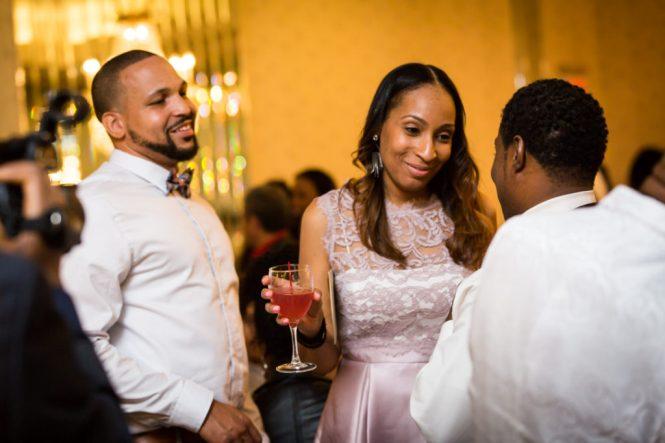 Guests enjoying a Glen Terrace wedding