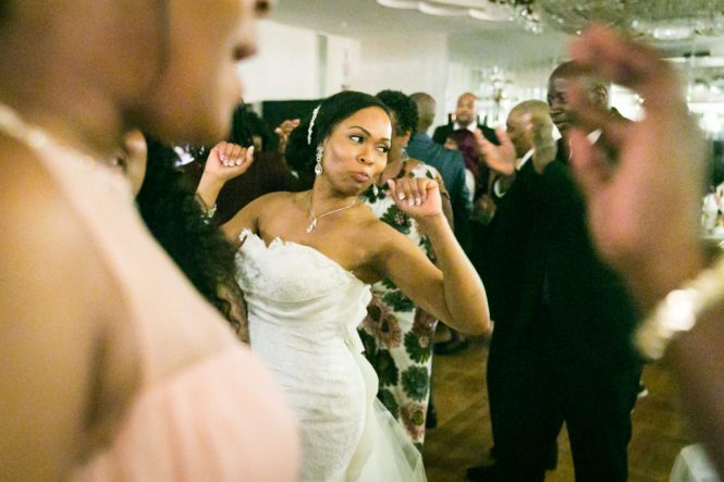 Bride dancing at a Glen Terrace wedding