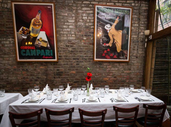 Tablescape for a Scottadito wedding