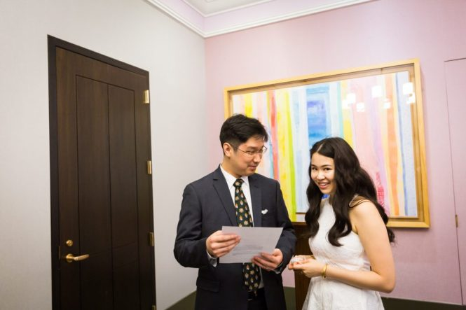 Ceremony at a NYC City Hall elopement