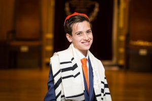 Temple portrait by bar mitzvah photographer, Kelly Williams