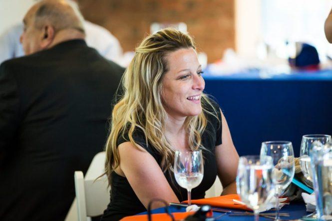 Guest enjoying a bar mitzvah by bar mitzvah photographer, Kelly Williams