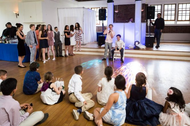 Toasts by bar mitzvah photographer, Kelly Williams