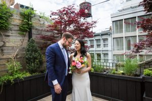 First look before a SoHo wedding