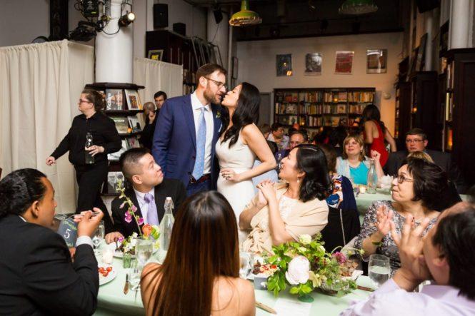 Guests enjoying a SoHo wedding