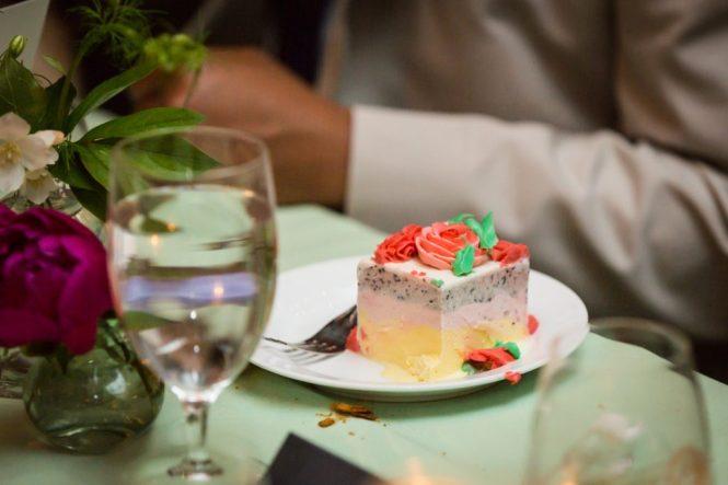 Ice cream cake at a SoHo wedding