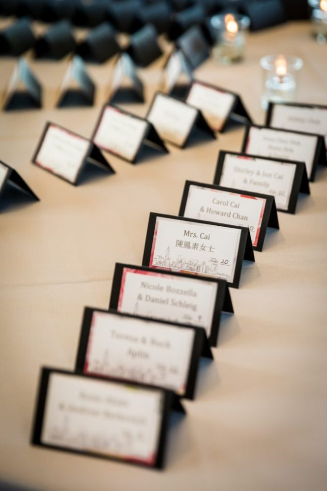 Escort cards as a wedding DIY project