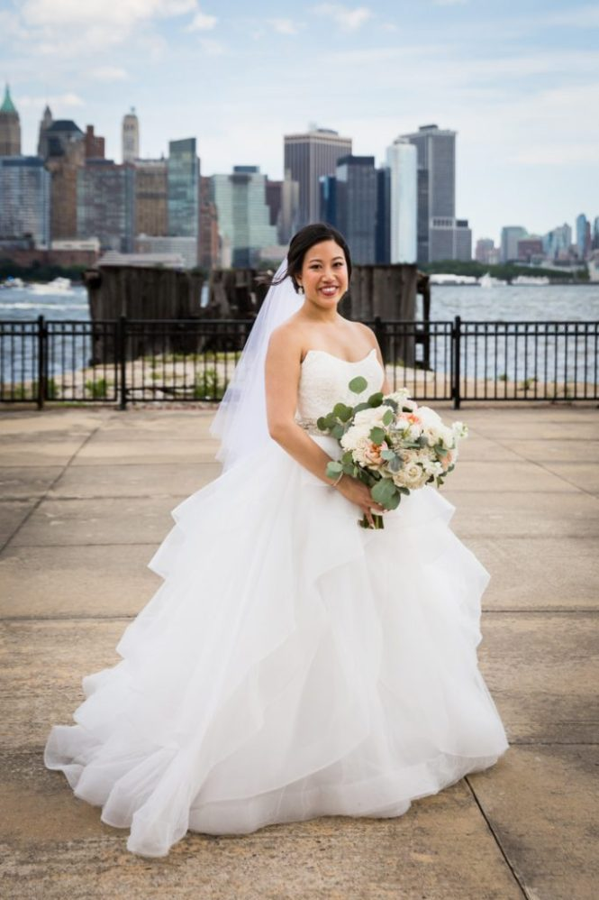 Bride and groom portrait at a Maritime Parc wedding