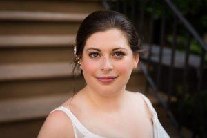 Bride portrait before a Brooklyn Historical Society wedding