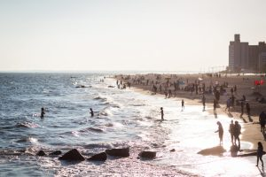 Coney Island beach scene