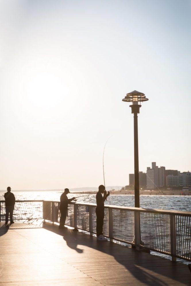Fishermen on the Coney Island pier