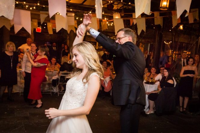 Father-daughter dance at at a Gallow Green wedding