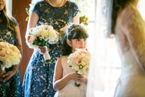 Flower girl for an article on wedding officiant tips