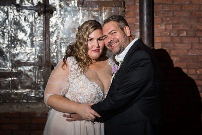 Bride and groom at a 26 Bridge wedding