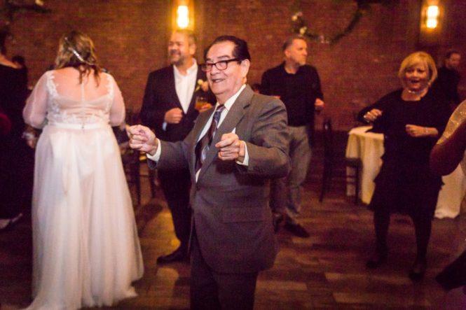 Guests dancing at a 26 Bridge wedding