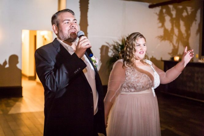 Toasts at a 26 Bridge wedding