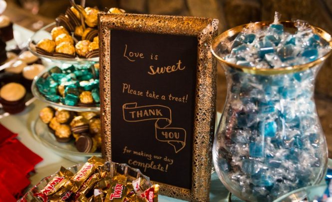 Candy buffet at a Bear Mountain Carousel wedding