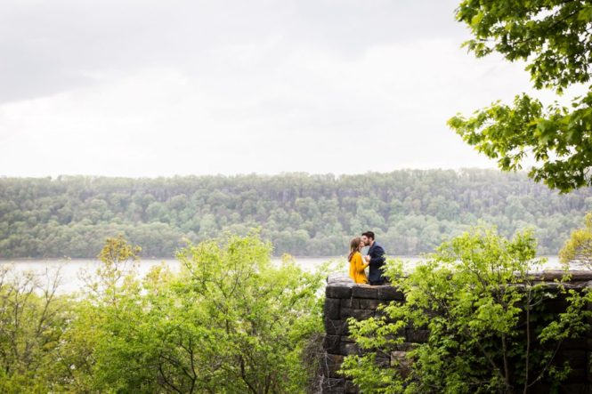 Engagement portrait at Fort Tryon Park