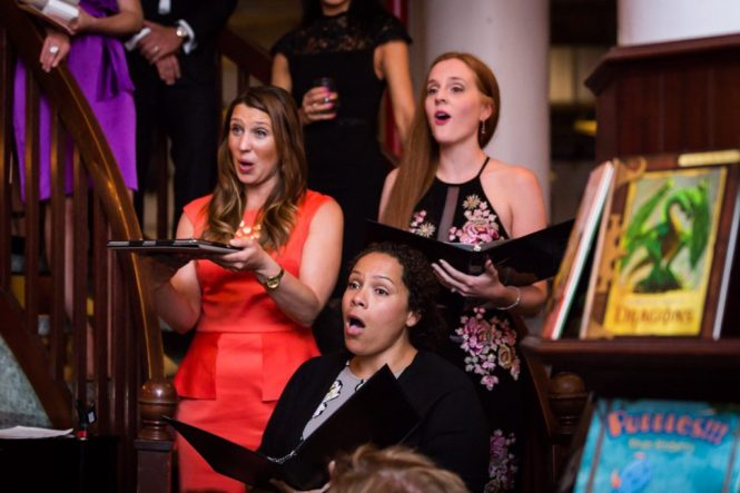 Singers at a Housing Works Bookstore Cafe wedding
