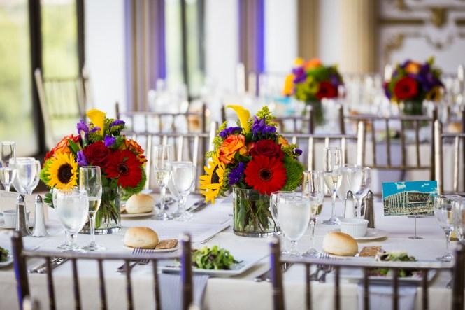 Table setting for article on a Terrace on the Park wedding