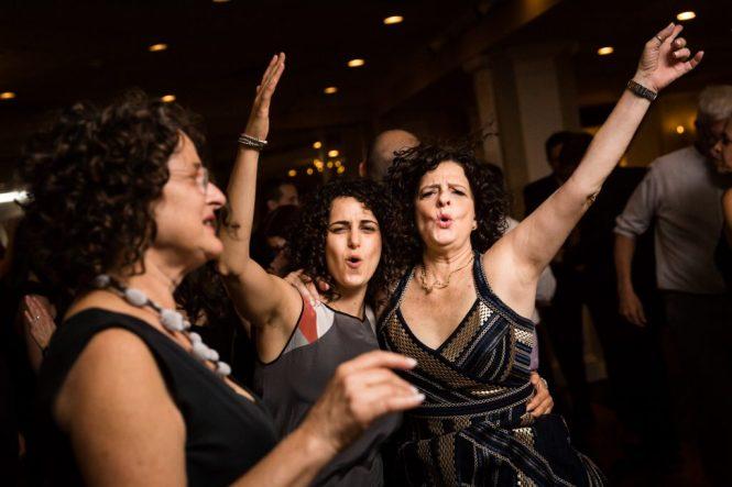 Guests dancing at a Larchmont Shore Club wedding