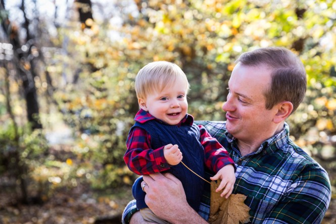 Father and son for article on how to get your kids to look into the camera