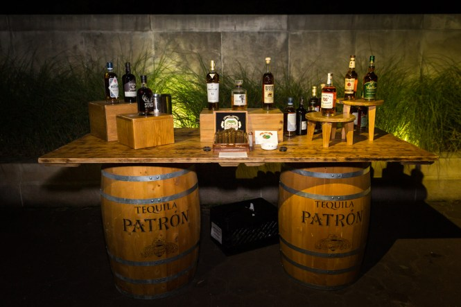 Whiskey tasting table for an article on Bronx Zoo wedding venue updates