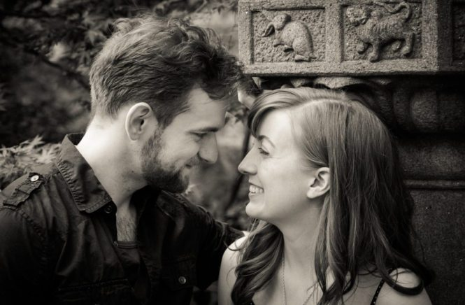 Brooklyn Botanic Garden engagement photos by Brooklyn wedding photographer, Kelly Williams