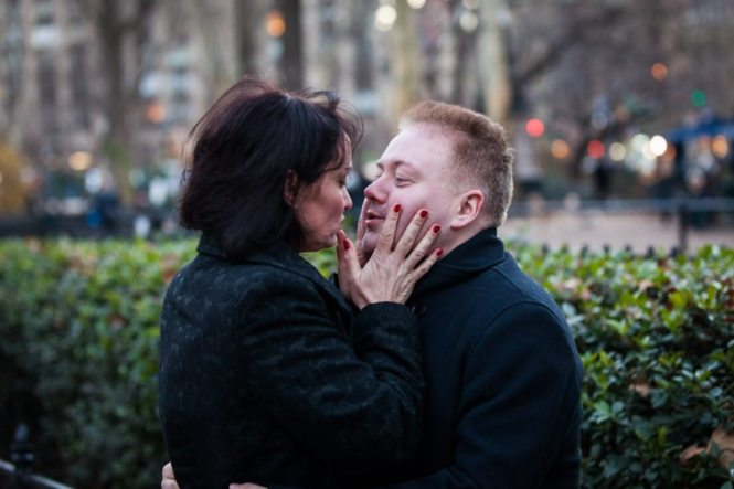 Madison Square Park engagement photos by NYC engagement photographer, Kelly Williams