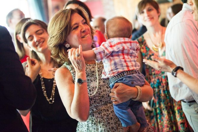 Guests having fun, by NYC bat mitzvah photographer, Kelly Williams
