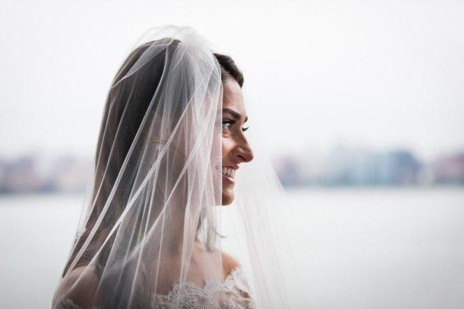 Bridal portrait by Hoboken wedding photographer, Kelly Williams