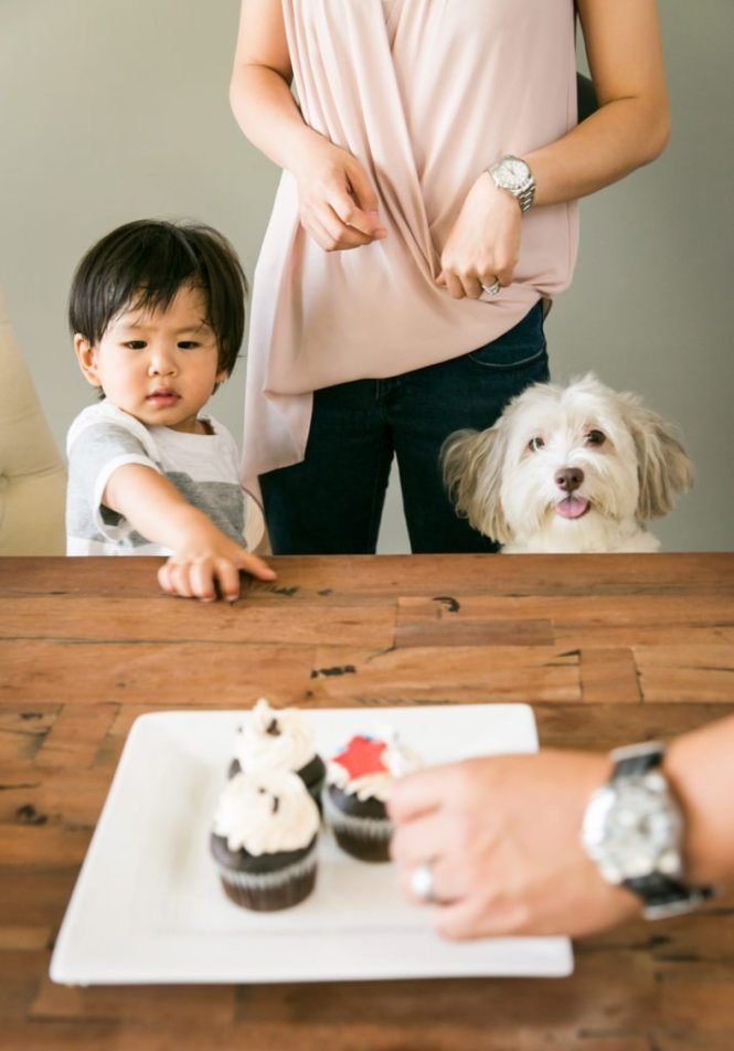 Kid with cupcake, by NYC photographer, Kelly Williams