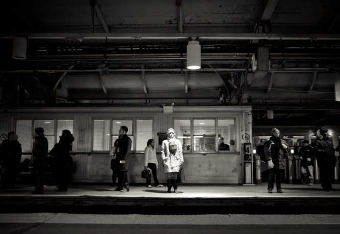 Path train spotlight, by NYC photographer, Kelly Williams
