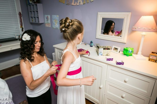 Getting ready photos for an article on should you see each other before the wedding by NYC wedding photojournalist, Kelly Williams