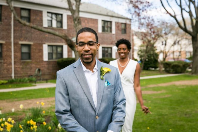How to get the perfect first look, by NYC wedding photojournalist, Kelly Williams