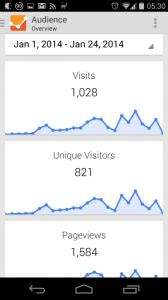 Over 800 unique visitors