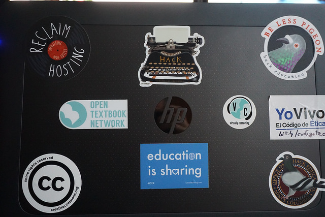 Laptop stickers on my personal laptop