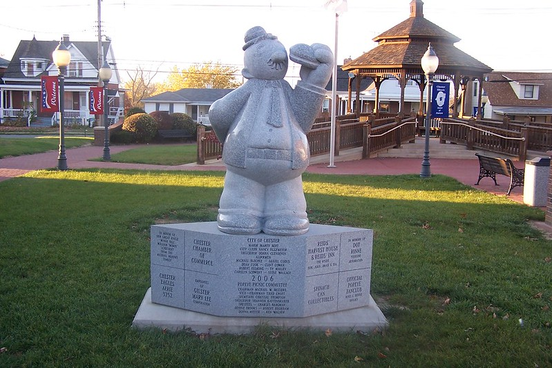 Wimpy Statue at Gazebo Park, Chester, Illinois