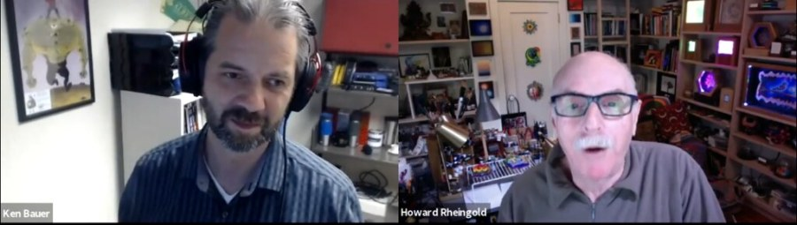 Screen capture from my podcast recording with Howard Rheingold in 2019