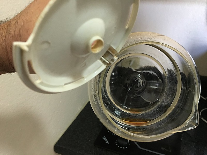 Image of an empty coffee pot.