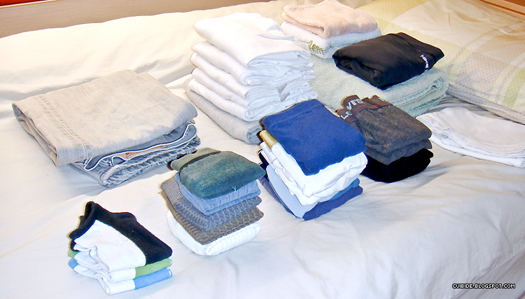 Picture of recently folded laundry.