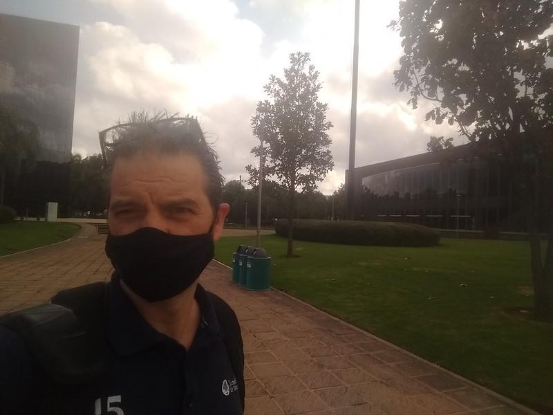 Selfie (of Ken Bauer) taken at Tecnológico de Monterrey in Guadalajara, September 2020.