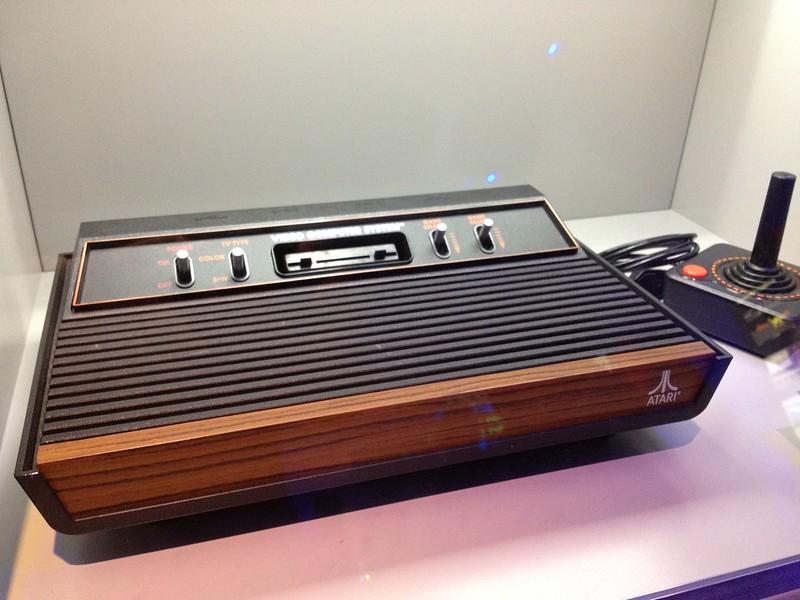 Closeup of an Atari 2600 at the Smithsonian Art museum