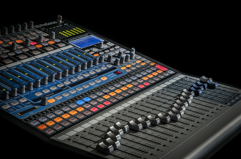 Picture of a audio mixer