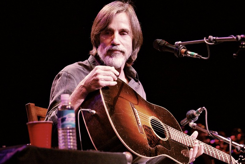 Jackson Browne unplugged and in concert.