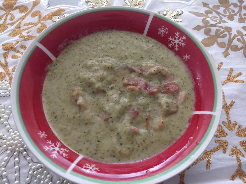 Cream of Broccoli Soup with Bacon