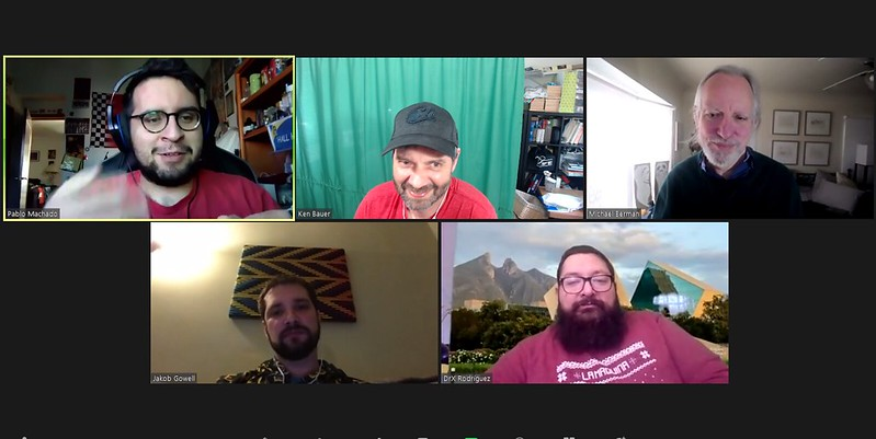 Our afternoon #educoffee session. Thanks for joining today Pablo, Michael, Jakob, and Miguel.
